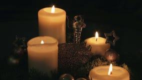 Advent wreath stock video footage