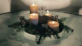 Advent wreath stock video