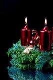 Advent wreath closeup Royalty Free Stock Photography