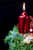 Advent wreath closeup. Vertically. Stock Photography