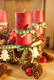 Advent wreath in country style Stock Images