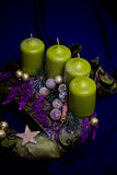 Advent wreath detail Stock Photography
