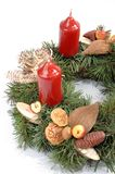 Advent wreath detail Stock Images