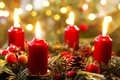 Advent wreath Royalty Free Stock Photography