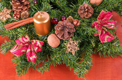 Advent wreath detail, closeup Royalty Free Stock Photos