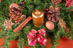Advent wreath detail, closeup Royalty Free Stock Photo