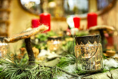 Advent wreath ensemble detail Royalty Free Stock Photography