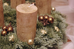 Advent wreath with four candles Stock Image