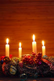 Advent wreath with four candles royalty free stock photography