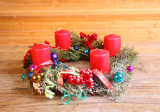 Advent wreath with four candles Royalty Free Stock Image