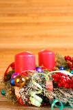 Advent wreath with four candles Royalty Free Stock Photo