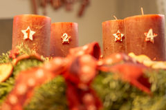 Advent wreath - fourth advent Royalty Free Stock Photography
