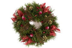 Advent wreath isolated on the white background Stock Images