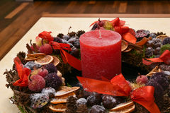 Advent wreath natural setting Stock Photos
