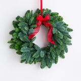 Advent wreath over a bright wall Royalty Free Stock Image
