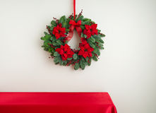Advent wreath over sideboard Royalty Free Stock Photos