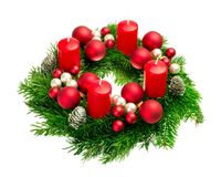 Advent wreath on pure white Royalty Free Stock Image