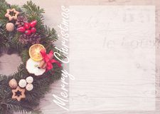 Advent wreath with red candles for the pre Christmas time Royalty Free Stock Photography