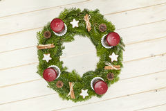 Advent wreath top view Stock Photo