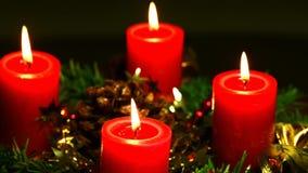 Advent wreath on turn table stock video footage