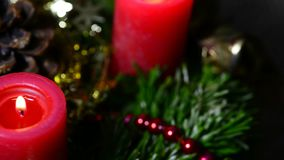 Advent wreath stock video