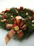 Advent wreath wih christmas decoration Stock Photography