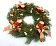 Advent wreath wih christmas decoration Royalty Free Stock Photography