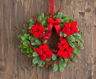 Advent wreath with winter rose Royalty Free Stock Photos