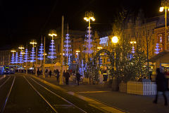 Advent in  Zagreb, Ban Jelacic square Royalty Free Stock Images
