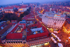 Advent In Zagreb, Croacia imagen de archivo libre de regalías