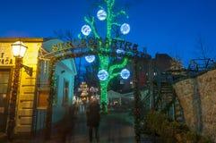 Advent In Zagreb, Croatie photos stock