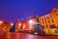 Advent In Zagreb, Kroatien Stockfotografie