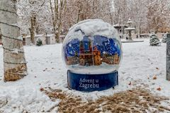 Advent in Zagreb on Zrinjevac park Stock Image