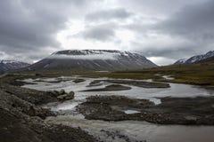 Adventdalen en Spitsbergen, Svalbard Imagen de archivo libre de regalías