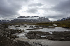 Adventdalen w Spitsbergen, Svalbard Obraz Royalty Free