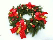 adventen undersöker kranen för jul fyra Arkivfoto