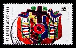 Adventiat第50周年, serie,大约2011年 免版税库存图片