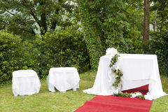 Adventist outdoor wedding Stock Image