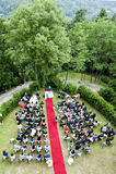 Adventistische Hochzeit im Freien Lizenzfreies Stockfoto