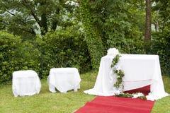 Adventistische Hochzeit im Freien Stockbild
