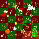 adventkalender royaltyfri bild
