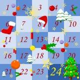 adventkalender royaltyfri fotografi