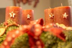 Adventkrans - fjärde advent Royaltyfri Fotografi