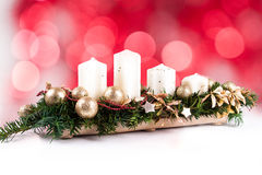 Adventkrans och stearinljus Royaltyfri Fotografi