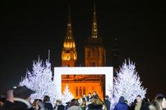 Advento em Zagreb, Croácia 2016 Imagens de Stock Royalty Free