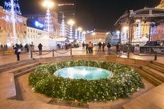 Advento em Zagreb, Croácia 2016 imagens de stock