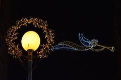 Advento em Zagreb, Croácia, decoração da rua no tempo do Natal fotografia de stock