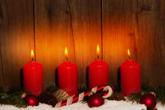 Adventszeit, Adventskerzen Lizenzfreies Stockbild