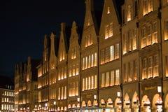 Adventszeit bei Prinzipalmarkt in Muenster, Deutschland Stockbild