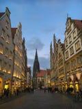 Adventszeit bei Prinzipalmarkt in Muenster, Deutschland Stockfotos